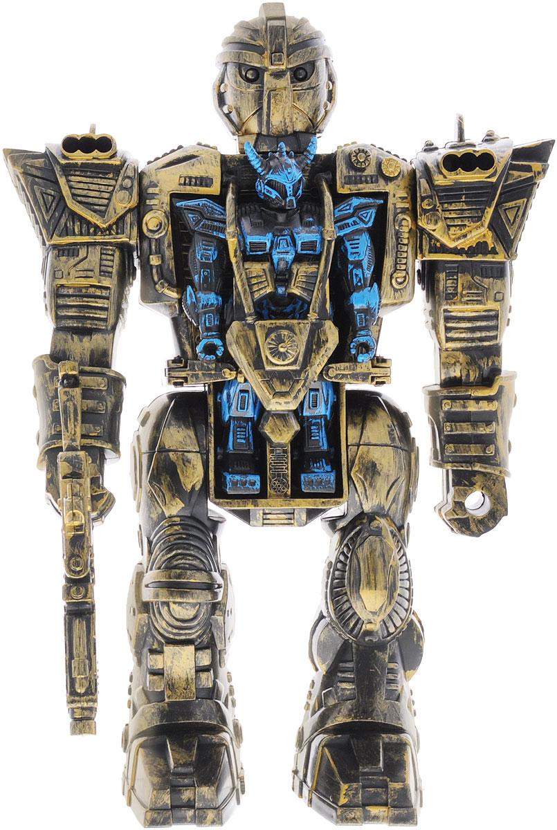 Simba Космический робот Twin Bot цвет желтый синий3576017Космический робот Simba Twin Bot привлечет внимание вашего малыша и станет его любимой игрушкой. Twin Bot состоит из двух роботов сразу, огромного золотисто-черного и небольшого синего, который помещается на груди у первого. В комплект помимо роботов входят крылья и оружие для синего робота, бластер и две стрелы для большого. У маленького робота поворачивается голова, двигаются конечности. У большого подвижны руки и ноги. Чтобы извлечь маленького робота, нужно поднять навесную броню и отодвинуть рычаги управления. Ваш ребенок сможет часами играть с роботом, придумывая разные истории.