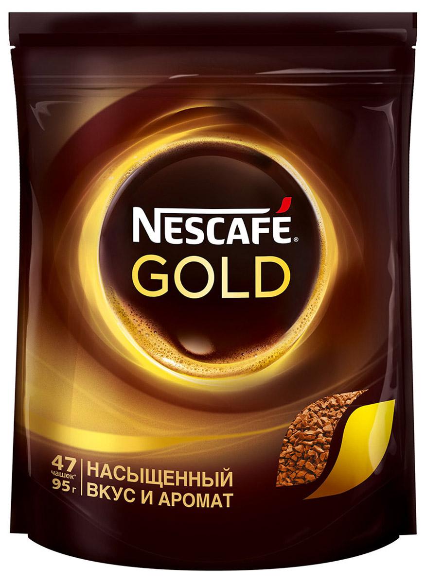 Nescafe Gold 100% кофе растворимый сублимированный, 95 г12204005Почувствуйте истинное удовольствие с кофе Nescafe Gold. Ведь Nescafe Gold создан из обжаренных кофейных зерен нескольких сортов, чтобы вы могли в полной мере ощутить его неповторимый аромат и насыщенный вкус. Nescafe Gold - кофе, который дарит удовольствие.