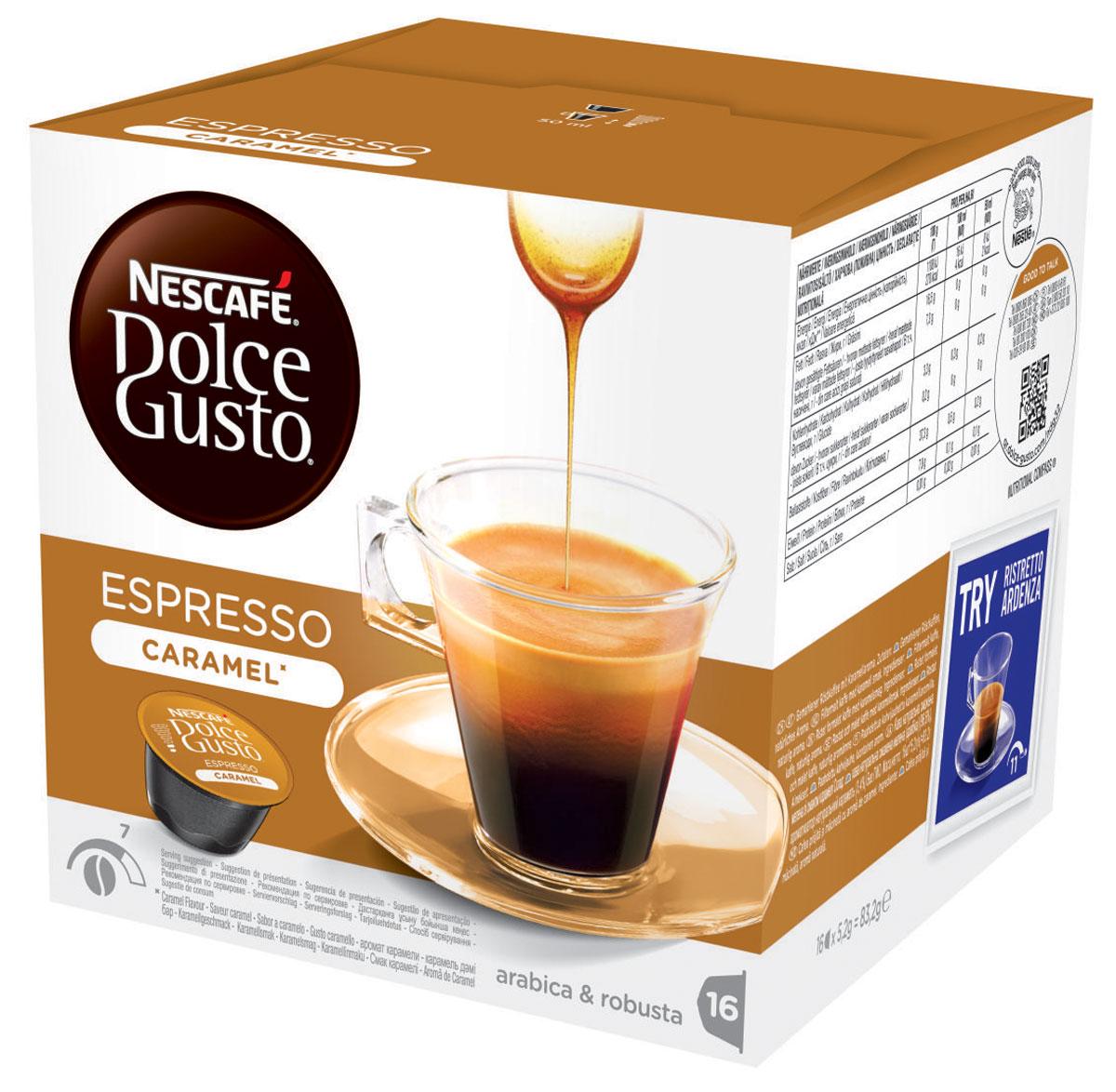 Nescafe Dolce Gusto Espresso Caramel кофе в капсулах, 16 шт 12128780