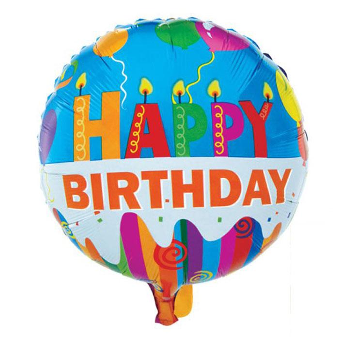 Action! Шар фольгированный Happy BirthdayAPI0213Большой фольгированный шар Happy Birthday станет замечательным украшением праздника и веселой игрушкой для малыша. Яркий круглый шар с надписью Happy Birthday может стать прекрасным дополнением к подарку на день рождения! С помощью этого аксессуара любая вечеринка останется незабываемой! Изделие поставляется не надутым.