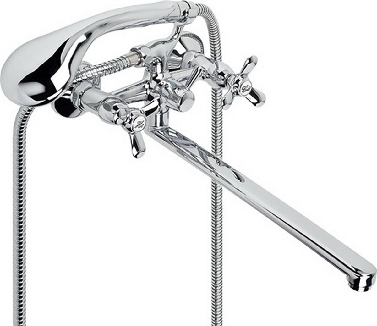 Argo смеситель для ванны и умывальника OMega, 1/2, керамический клапанный, плоский излив 325 мм