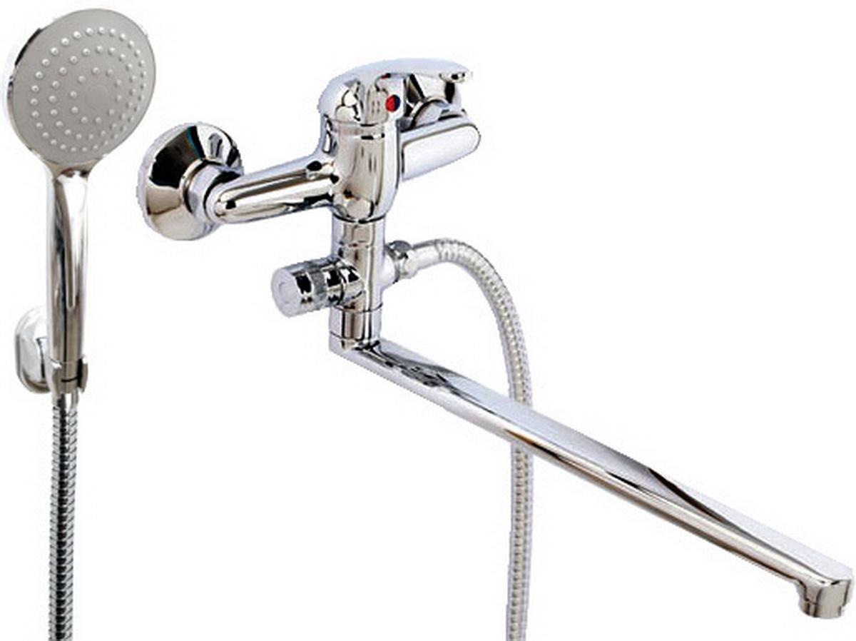 Argo смеситель для ванны и умывальника Oksa, d-35, картриджный, L образный излив 325 мм