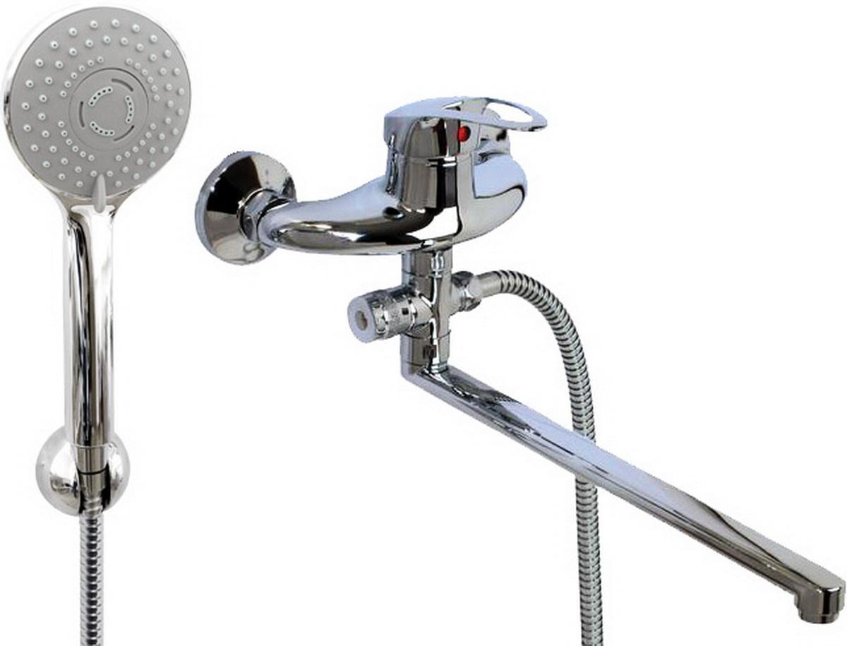 Argo смеситель для ванны и умывальника Lux Jamaica, d-40, картриджный, L образный излив 325 мм