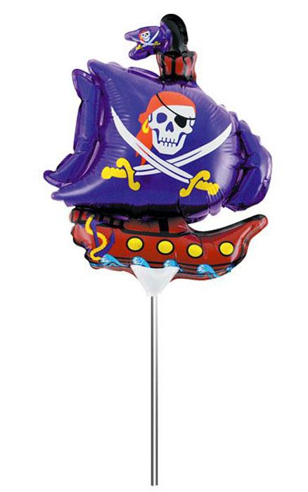 Action! Шар фольгированный на палочке Пиратский корабльAPI0225Фольгированный шар Пиратский корабль станет замечательным украшением праздника и веселой игрушкой для малыша. Яркий шар в форме забавного кораблика, сможет стать прекрасным дополнением к подарку на день рождения! С помощью этого аксессуара любая вечеринка останется незабываемой! Шар дополнен пластиковой палочкой и держателем. Изделие поставляется не надутым.