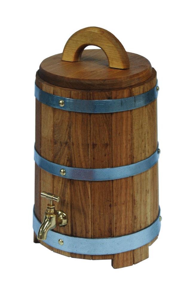 Proffi Home Жбан с краником 10 л (дуб).PH0201Тип: Жбан Количество предметов в наборе: 1 шт. Ведро/ковш/кружка Объем: 10 л Материал: Дуб