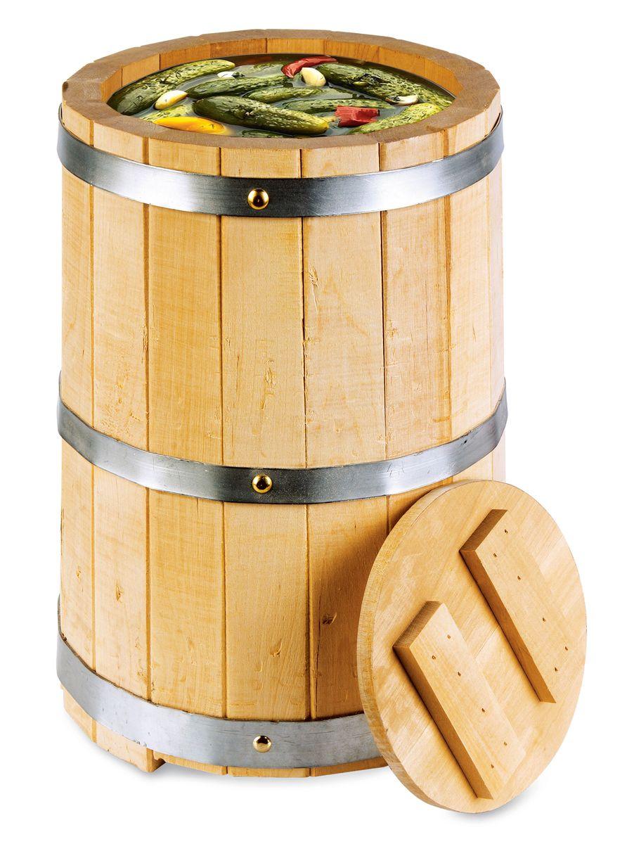 Proffi Home Кадка с гнетом 5 л (береза).PH0209Эксплуатация бондарных изделий. Перед первым использованием бондарное изделие рекомендуется подготовить. Для этого нужно наполнить изделие холодной водой и оставить наполненным на 2-3 часа. Затем необходимо воду слить, обдать изделие сначала горячей, потом холодной водой. Не рекомендуется оставлять бондарные изделия около нагревательных приборов, а также под длительным воздействием прямых солнечных лучей. С момента начала использования бондарного изделия не рекомендуется оставлять его без воды на срок более 1 недели. Но и продолжительное время хранить в таких изделиях воду тоже не следует. После каждого использования необходимо вымыть и ошпарить изделие кипятком. В качестве моющих средств желательно использовать пищевую соду либо раствор горчичного порошка. Правильное обращение с бондарными изделиями позволит надолго сохранить их эксплуатационные свойства и продлить срок использования! Объем кадки: 5 л.