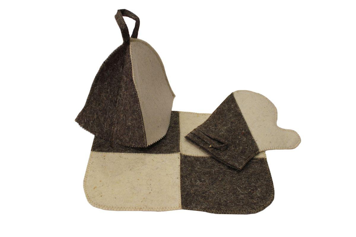 Proffi Home Набор для сауны двухцветный.PS0186Тип: Набор для сауны двухцветный: Тип : Женская Материал шапки: Шерсть