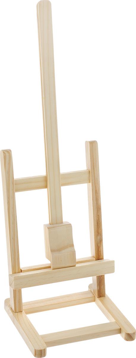 Мольберт настольный Белоснежка, высота 40 см20-BS Мольберт настольный 13.5х14.5x40cmНастольный мольберт Белоснежка - это удобный и полезный аксессуар для любителей рисования. Изделие выполнено из дерева и удобно устанавливается на столе. Предназначен для размещения работ на картоне или на холсте на подрамнике. Размеры мольберта: 13,5 х 14,5 х 40 см.
