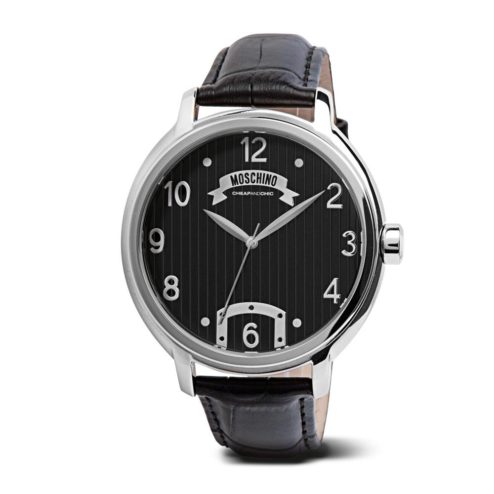 Часы мужские наручные Moschino Time For Oneself, цвет: черный. MW0236MW0236Часы наручные Moschino MW0236 Водостойкость: 50м (5 АТМ)
