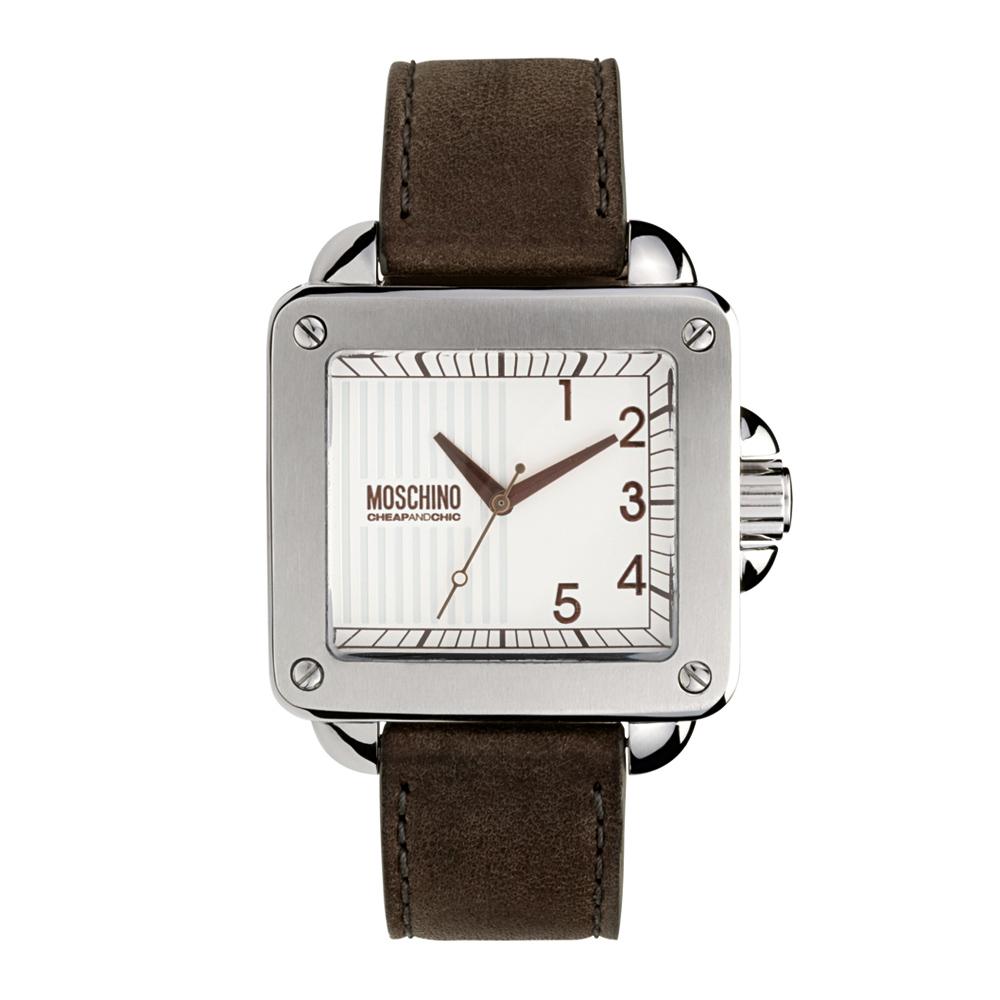 Часы мужские наручные Moschino Unit Square Gent, цвет: коричневый. MW0274MW0274Часы наручные Moschino MW0274 Водостойкость: 30м (3 АТМ)