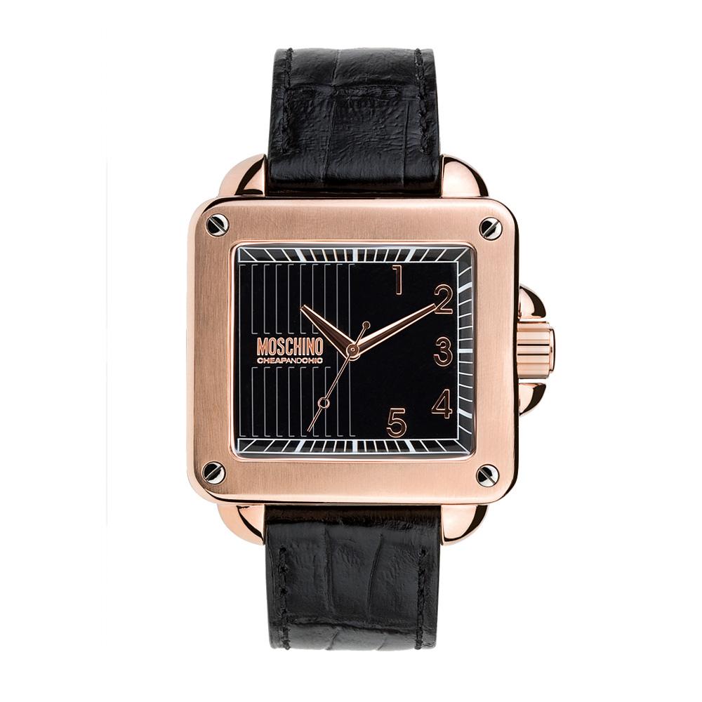 Часы мужские наручные Moschino Unit Square Gent, цвет: черный. MW0278MW0278Часы наручные Moschino MW0278 Водостойкость: 30м (3 АТМ)