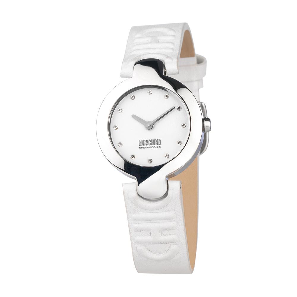 Часы женские наручные Moschino Full Of Chic, цвет: белый. MW0350MW0350Часы наручные Moschino MW0350 Водостойкость: 50м (5 АТМ)
