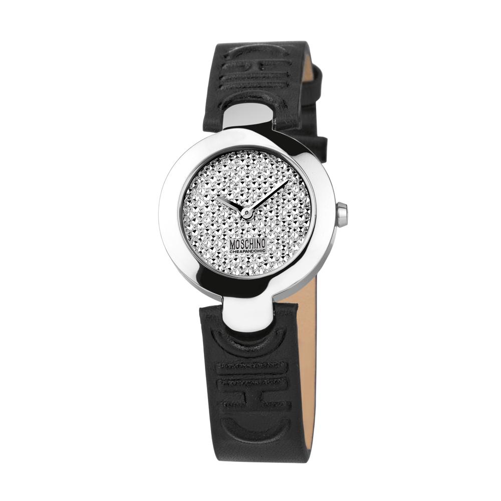 Часы женские наручные Moschino Full Of Chic, цвет: черный. MW0354MW0354Часы наручные Moschino MW0354 Водостойкость: 50м (5 АТМ)