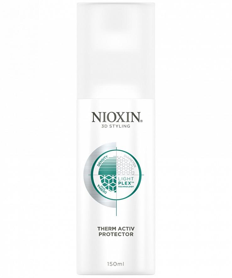 Nioxin 3D Styling Therm Activ Protector - Термозащитный спрей 150 мл81508323/4178Спрей защищает волосы от повреждений при работе с горячими инструментами, делая их упругими, уменьшая их ломкость, придавая блеск. Профессиональная технология LightPlex - позволяет получить эффект более легких и эластичных волос, воздействуя на волосы как внутри, так и снаружи. Кондиционирующие вещества проникают в кортекс волоса, удерживая необходимую влагу и защищая волосы от воздействий окружающей среды, невесомые гибкие полимеры обволакивают волосы, упрощают их укладку без жесткой фиксации.