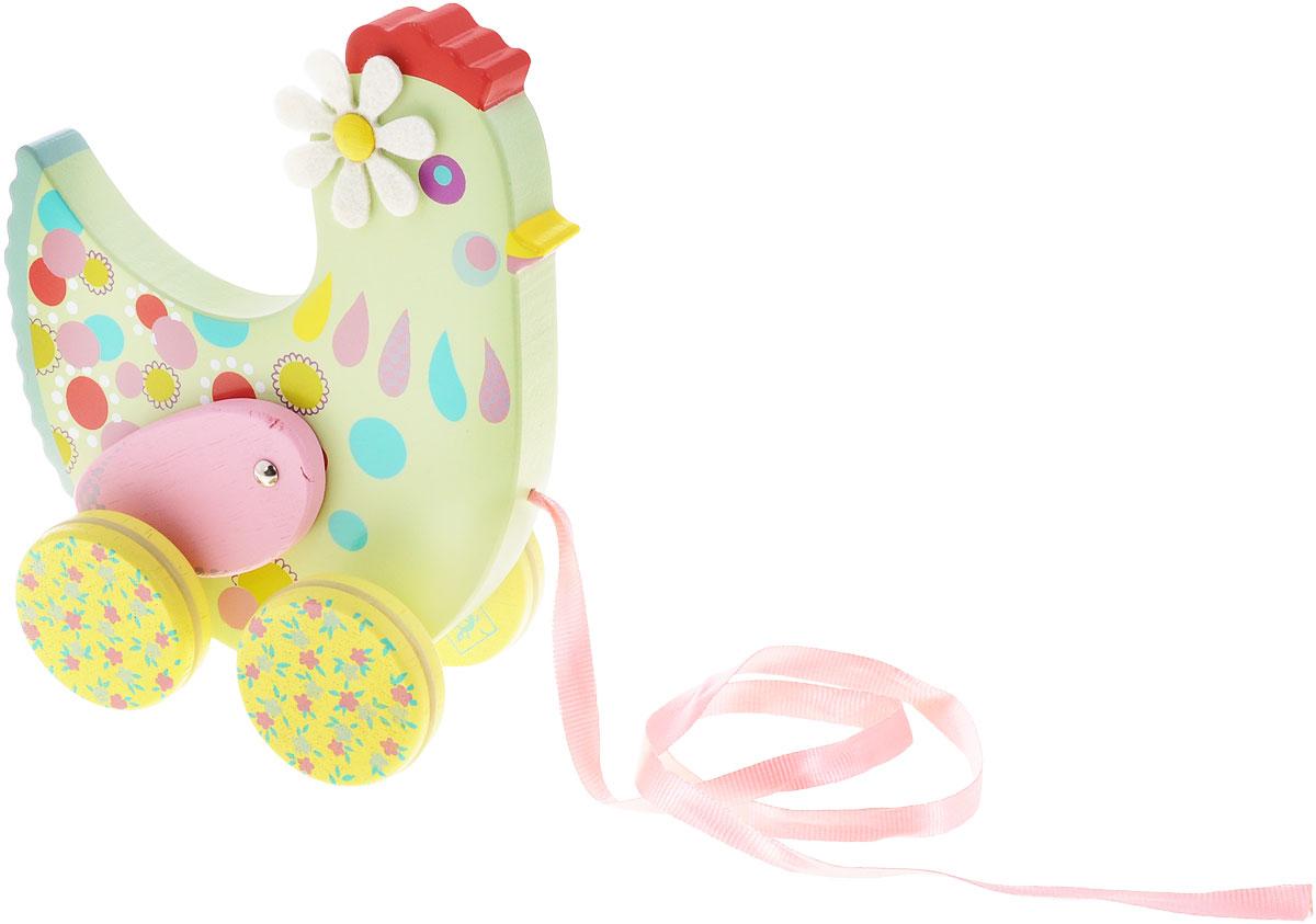 Djeco Игрушка-каталка Курочка Коткотт06228Деревянная игрушка-каталка Djeco Курочка Коткотт непременно понравится вашему малышу и подойдет для игры как дома, так и на свежем воздухе. Она выполнена из дерева с использованием нетоксичных красок в виде забавной курочки Коткотт. Края игрушки закруглены, чтобы избежать травмирования. Каталка оснащена четырьмя цветными колесиками с резиновыми вставками. За текстильную ленточку малыш сможет возить игрушку за собой. Игрушка-каталка Djeco Курочка Коткотт развивает пространственное мышление, цветовое восприятие, ловкость, равновесие и координацию движений.