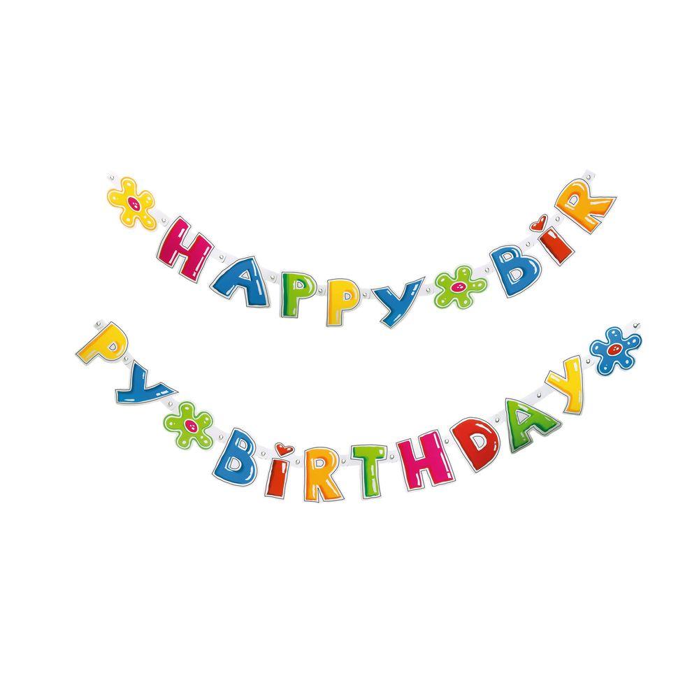 Susy Card Гирлянда детская Happy Birthday 1,6 м11142148