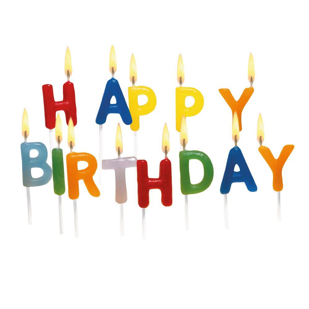 Susy Card Свечи для торта детские Happy Birthday 15 шт11142155