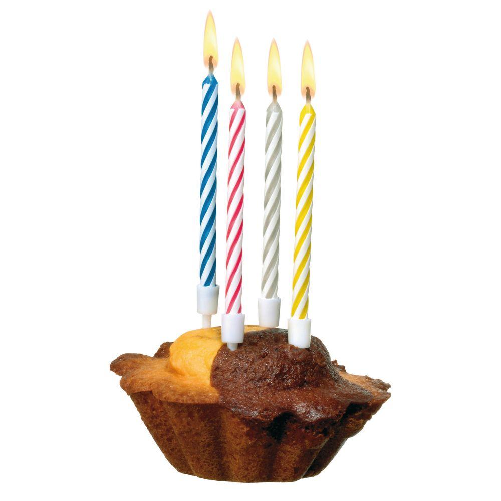Susy Card Свечи для торта детские Happy Birthday Magic 10 шт