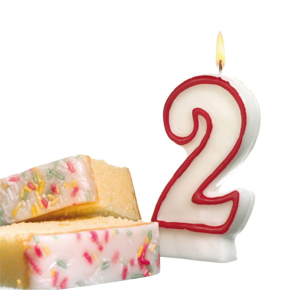 Susy Card Свеча-цифра для торта 2 года11142338