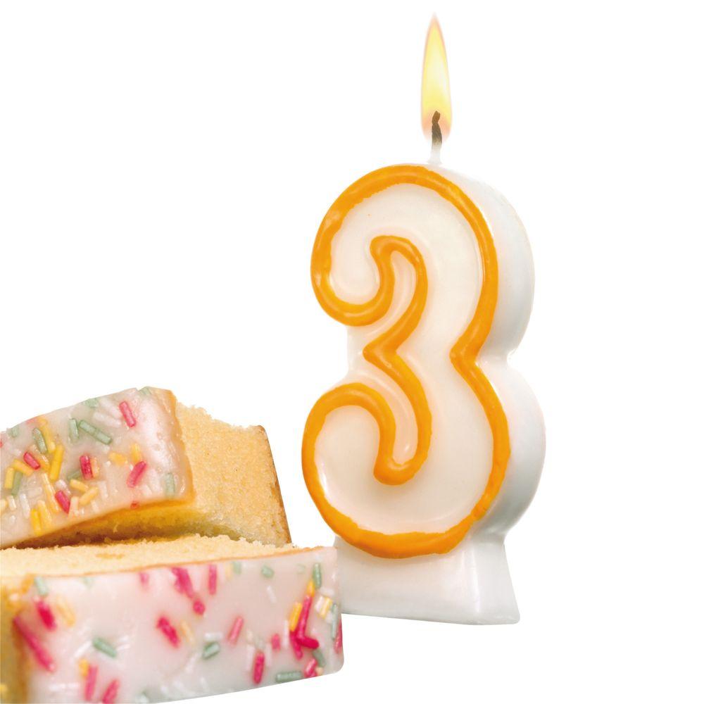 Susy Card Свеча-цифра для торта 3 года11142346