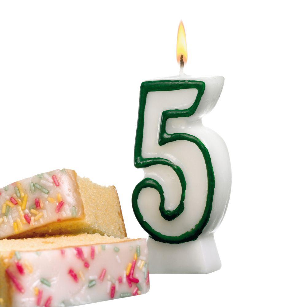 Susy Card Свеча-цифра для торта 5 лет11142361