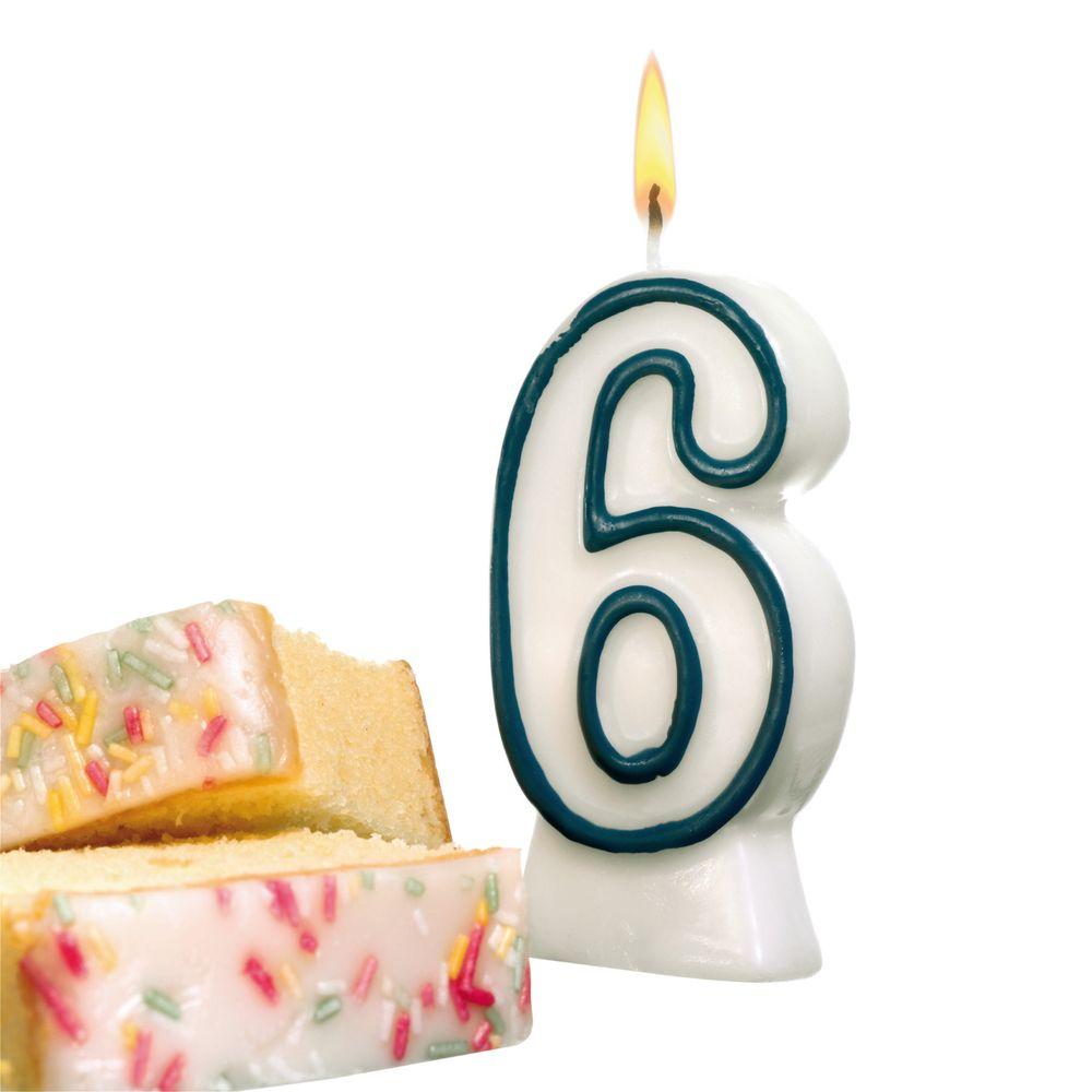 Susy Card Свеча-цифра для торта 6 лет11142627