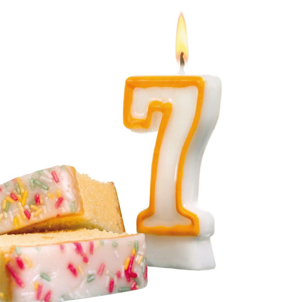 Susy Card Свеча-цифра для торта 7 лет11142635