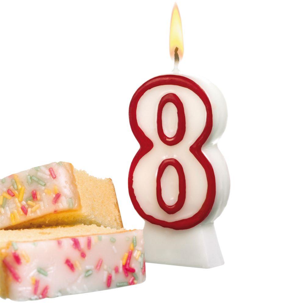 Susy Card Свеча-цифра для торта 8 лет11142643