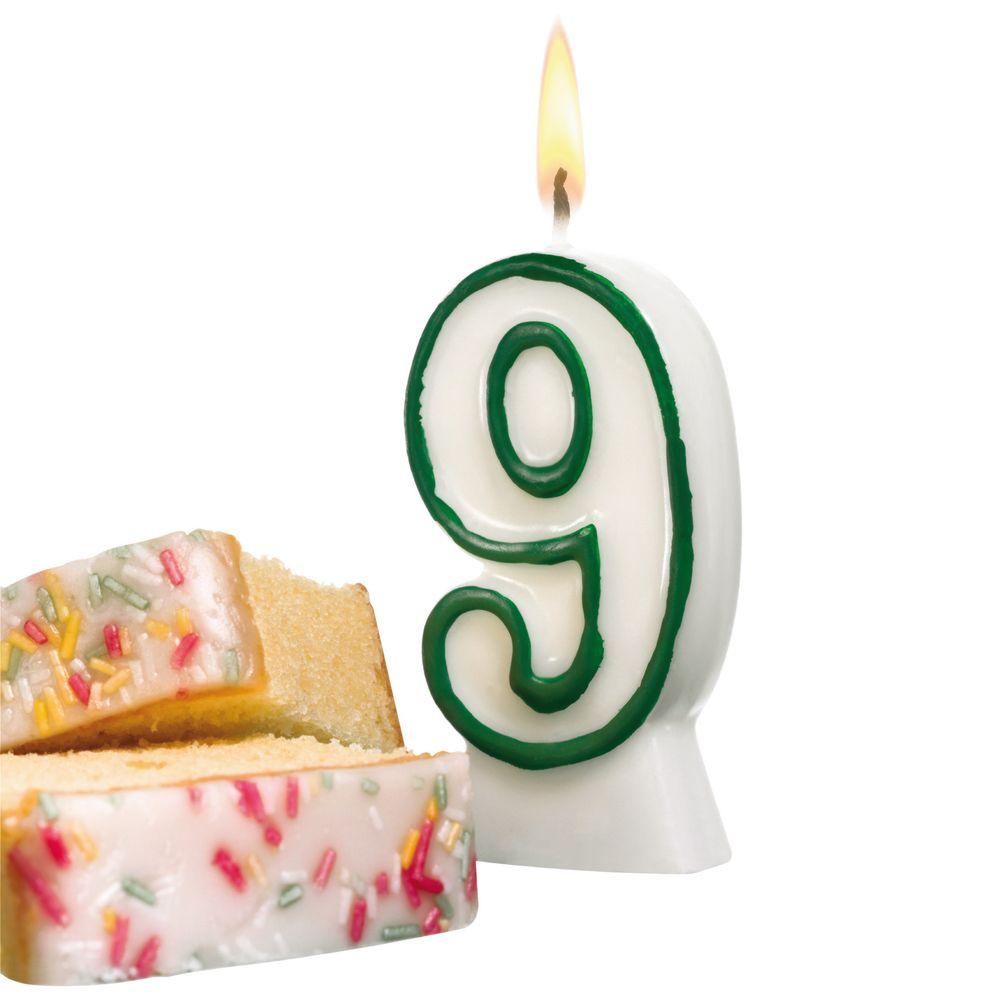 Susy Card Свеча-цифра для торта 9 лет