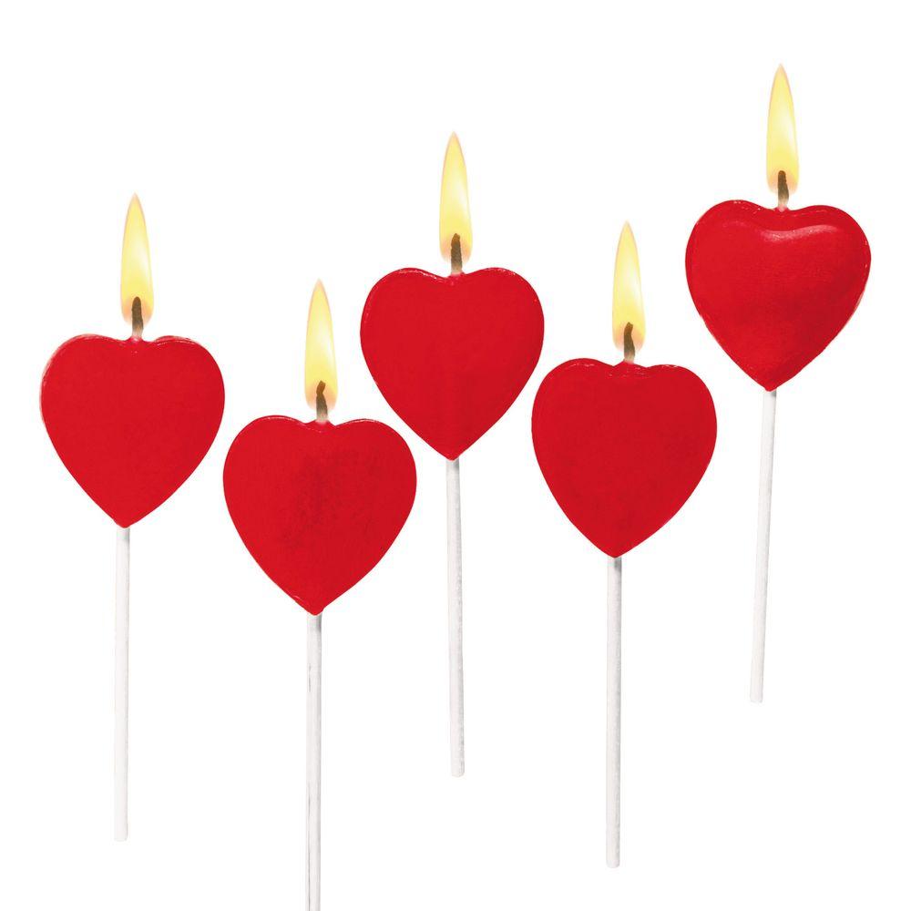 Susy Card Свечи для торта детские Сердца 5 шт