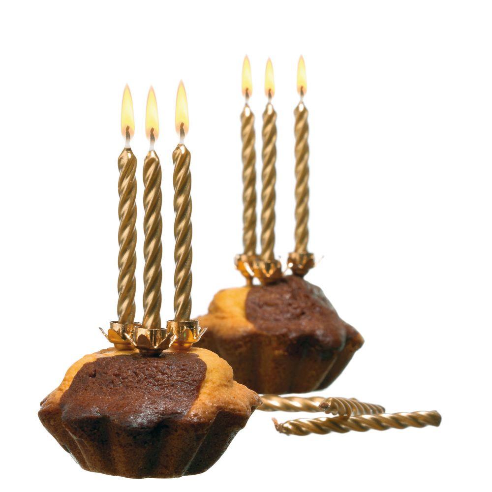 Susy Card Свечи для торта детские цвет золотистый 10 шт11142874