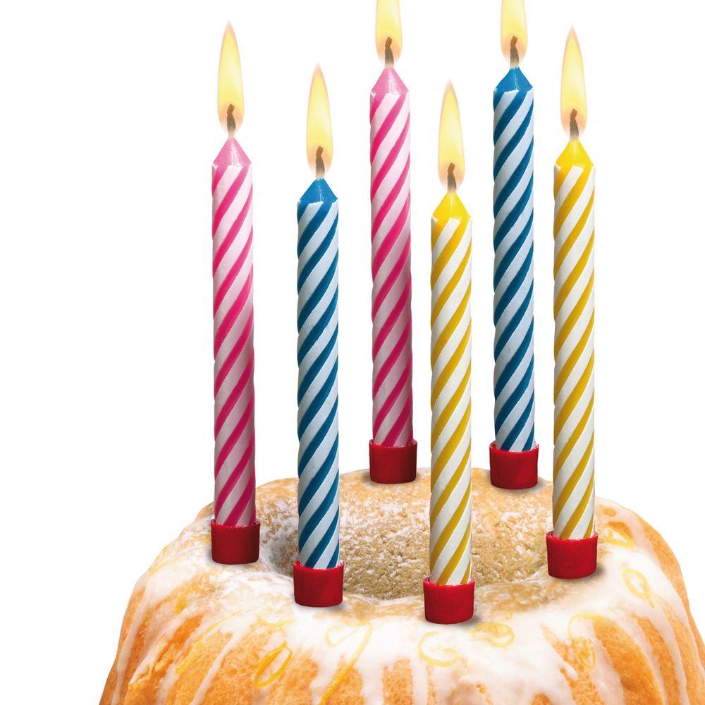 Susy Card Свечи для торта детские большие 12 шт