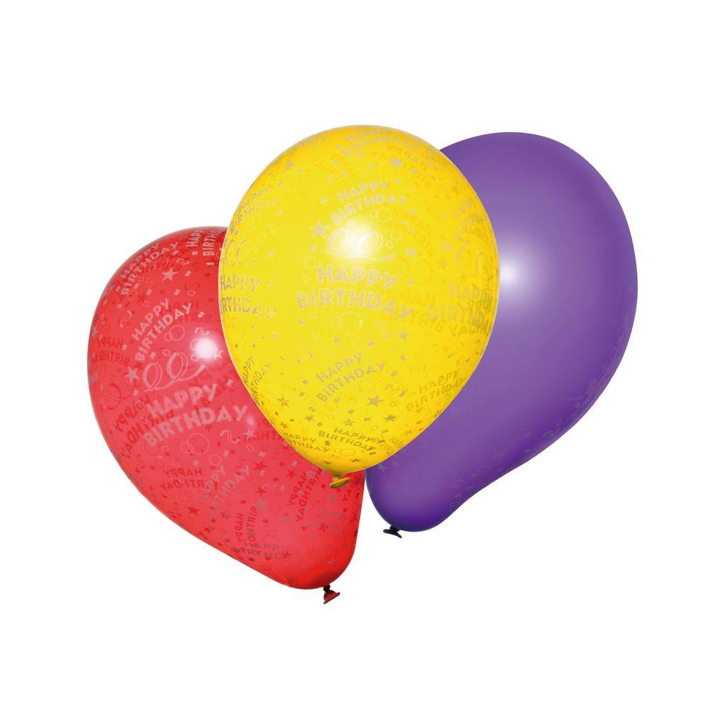 Susy Card Набор воздушных шариков детский Happy Birthday 10шт11143500