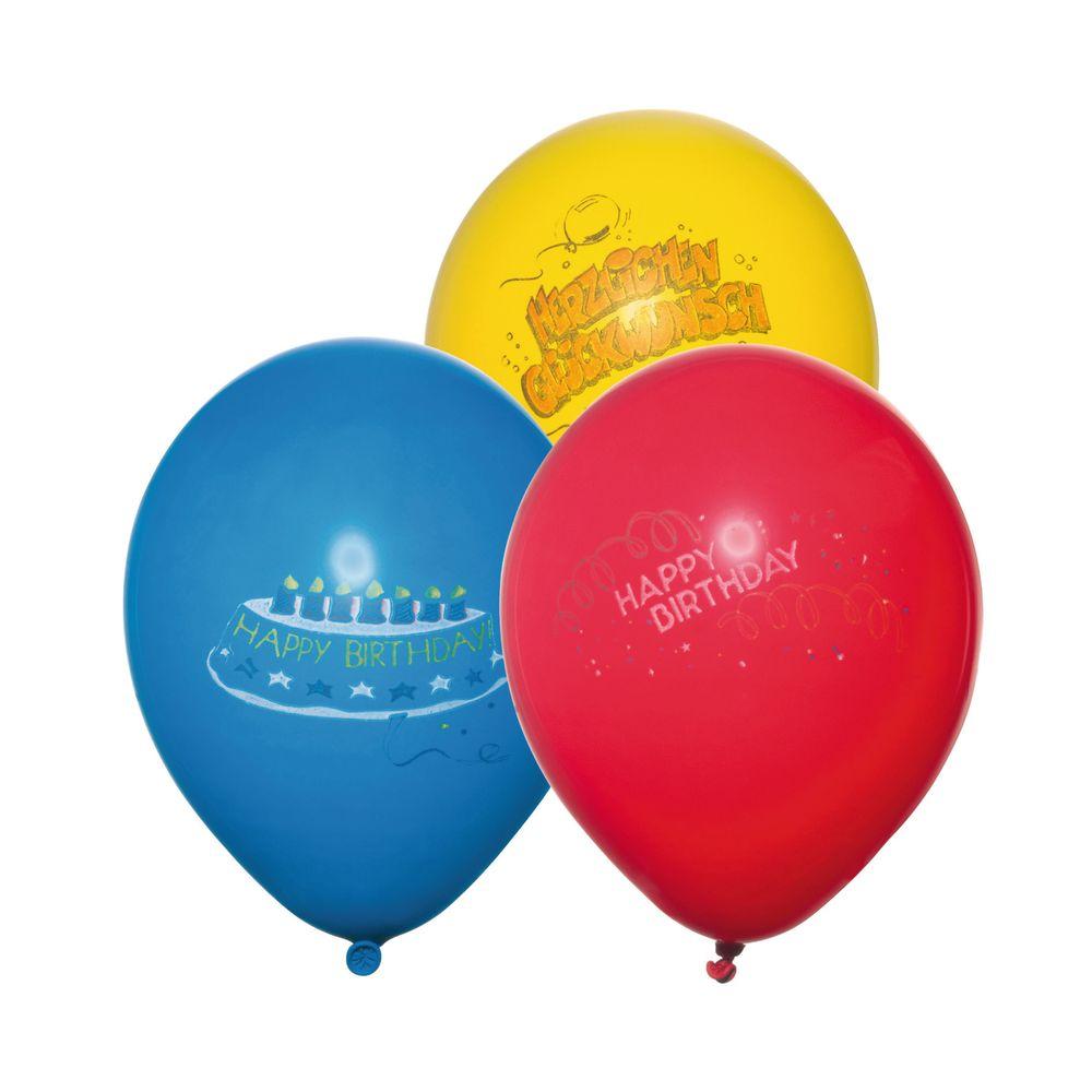 Susy Card Набор воздушных шариков детский Happy Birthday 6 шт