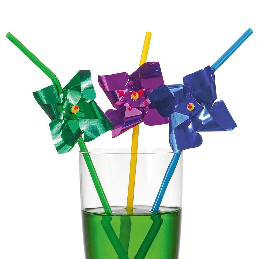 Susy Card Сервировка праздничного стола детям Трубочки для коктейля Ветерок 6 шт11350493