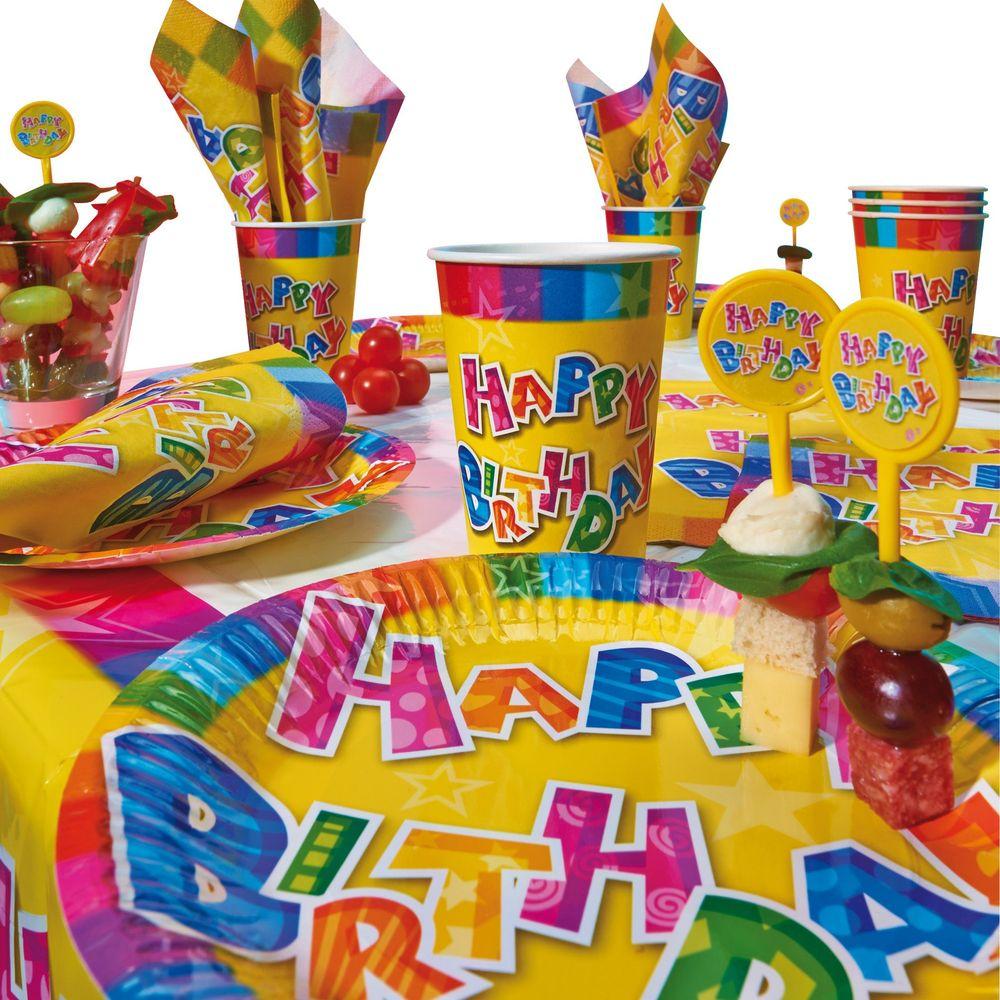 Susy Card Сервировка праздничного стола детям Набор для пикника Happy Birthday 1138117511381175