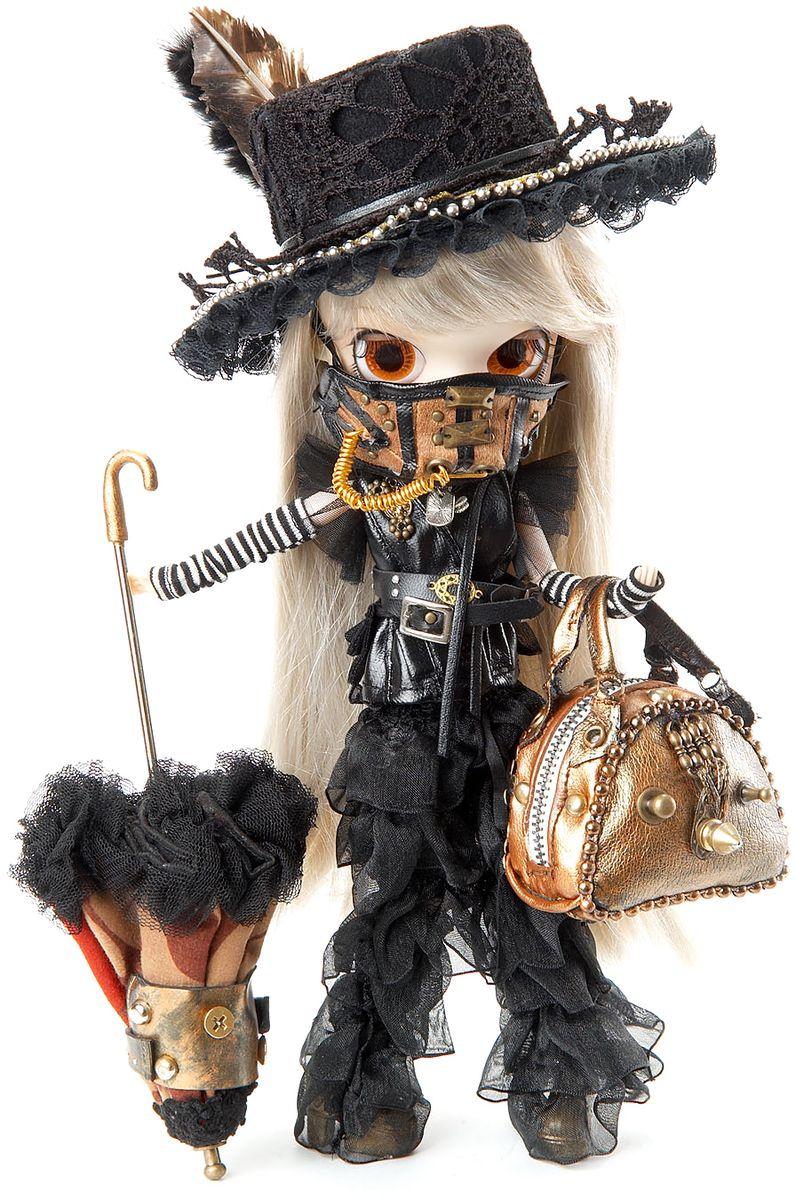 Groove Кукла коллекционная Byul РианномGRVB308Дизайнерские куклы от японской компании Groove могут похвастаться множеством подвижных шарнирных соединений, своей собственной историей и уникальным внешним видом — каждая кукла из этой серии обладает индивидуальной причёской и макияжем. С помощью специального механизма, расположенного в голове, можно изменять направление взгляда и закрывать глаза. В комплекте: шляпа, маска, сумка, зонт, подставка, сертификат с порядковым номером Материал: пластик Высота куклы: 26 см