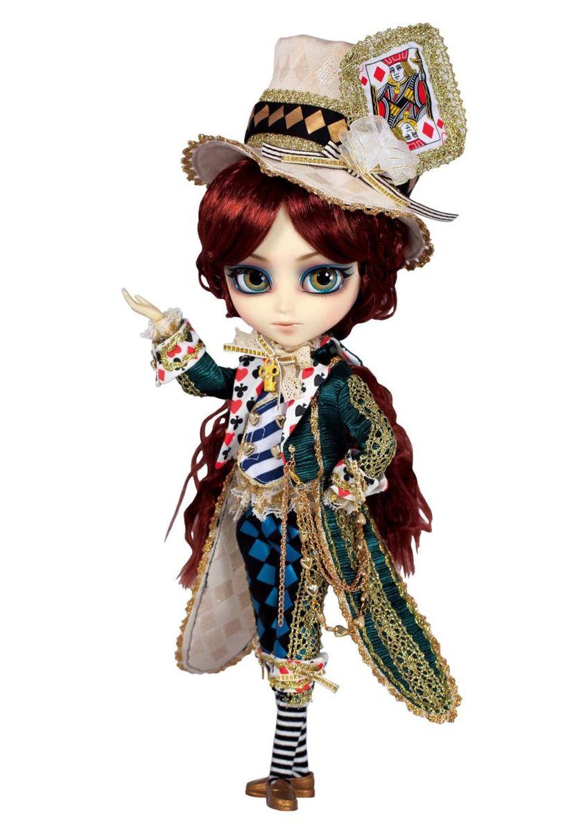 Groove Кукла коллекционная Isul Классический Безумный шляпникGRVI925Дизайнерские куклы от японской компании Groove могут похвастаться множеством подвижных шарнирных соединений, своей собственной историей и уникальным внешним видом — каждая кукла из этой серии обладает индивидуальной причёской и макияжем. С помощью специального механизма, расположенного в голове, можно изменять направление взгляда и закрывать глаза. В комплекте: шляпа, подставка Материал: пластик Высота куклы: 29 см