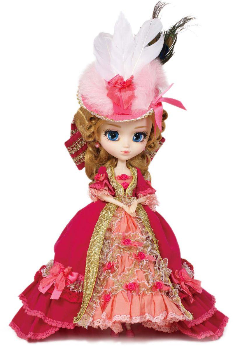 Groove Кукла коллекционная Pullip Мария АнтуаннетаGRVP094Дизайнерские куклы от японской компании Groove могут похвастаться множеством подвижных шарнирных соединений, своей собственной историей и уникальным внешним видом — каждая кукла из этой серии обладает индивидуальной причёской и макияжем. С помощью специального механизма, расположенного в голове, можно изменять направление взгляда и закрывать глаза. В комплекте: шляпа с перьями, подставка Материал: пластик Высота куклы: 31 см
