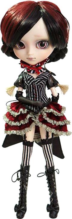 Groove Кукла коллекционная Pullip ЛаураGRVP147Дизайнерские куклы от японской компании Groove могут похвастаться множеством подвижных шарнирных соединений, своей собственной историей и уникальным внешним видом — каждая кукла из этой серии обладает индивидуальной причёской и макияжем. С помощью специального механизма, расположенного в голове, можно изменять направление взгляда и закрывать глаза. В комплекте: перчатки, сапожки на шнуровке, подставка Материал: пластик Высота куклы: 31 см