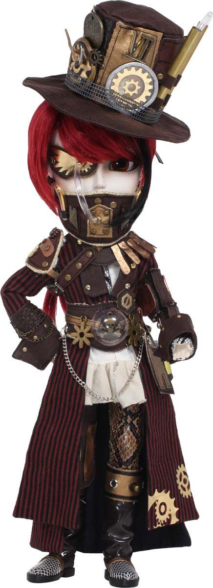 Groove Кукла коллекционная Taeyang ПлутонGRVT233Дизайнерские куклы от японской компании Groove могут похвастаться множеством подвижных шарнирных соединений, своей собственной историей и уникальным внешним видом — каждая кукла из этой серии обладает индивидуальной причёской и макияжем. С помощью специального механизма, расположенного в голове, можно изменять направление взгляда и закрывать глаза. В комплекте: цилиндр, подставка Материал: пластик Высота куклы: 34 см