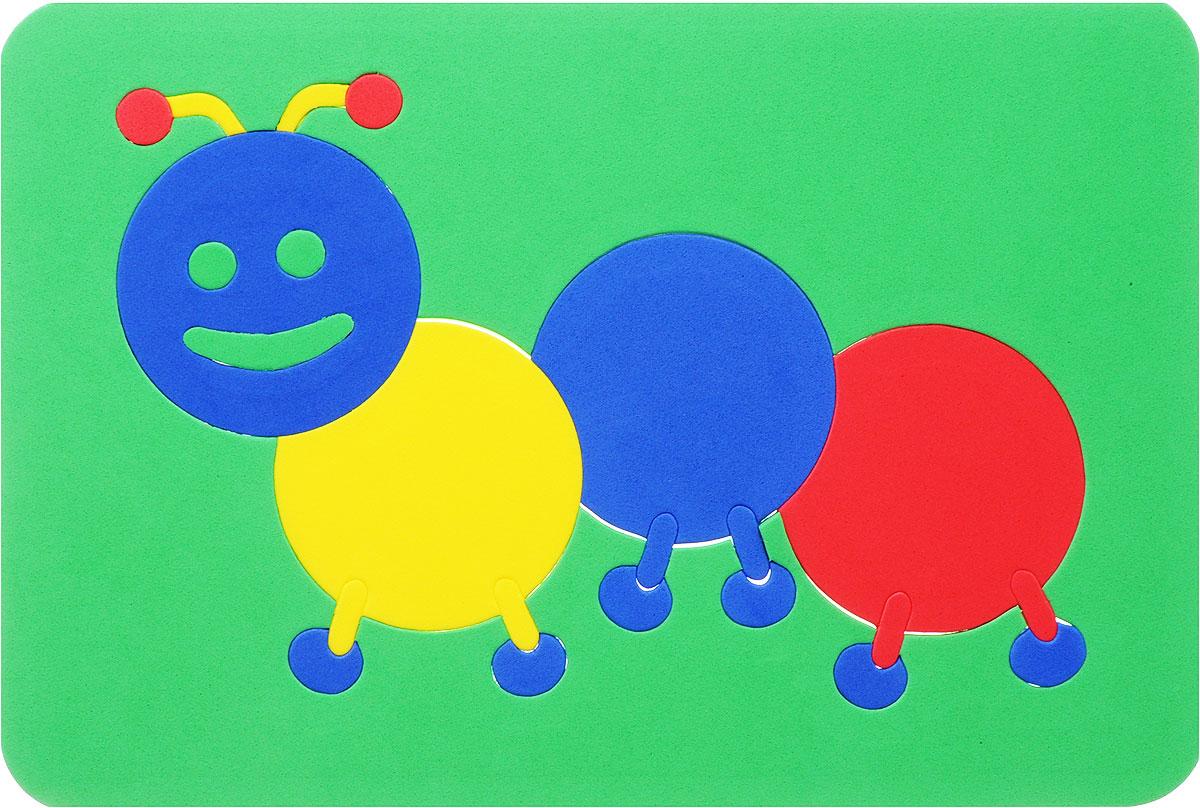 Август Пазл для малышей Гусеница цвет основы зеленый27-2004_зеленыйПазл Август Гусеница выполнен из мягкого полимера, который дает юному конструктору новые удивительные возможности в игре: детали гнутся, но не ломаются, их всегда можно состыковать. Пазл представляет собой основу, в которой из элементов разной формы и размеров собирается забавная гусеница. Ваш ребенок сможет собрать его и в ванной. Элементы можно намочить, благодаря чему они будут хорошо прилипать к стене в ванной комнате. Такая игра развивает пространственное и логическое мышление, память и глазомер, знакомит с формами и цветом предмета в процессе игры.