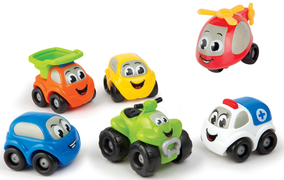 Smoby Набор машинок Vroom Planet211329Набор машинок Smoby Vroom Planet обязательно заинтересует вашего малыша! Это маленькие круглые машинки, с забавным дизайном, глазками и ярким оформлением. Такие игрушки нравятся детям и заставляют их активно развиваться. Они отлично ездят, а играть с ними можно как дома, так и на улице. Машинки выполнены из качественного и безопасного пластика. Все машинки легко едут вперед и назад, имеют обтекаемую безопасную форму, без острых и мелких деталей. Игры с разноцветными машинками полезны для фантазии, они стимулируют ребенка к действиям и придумыванию, развивают мелкую моторику и тренируют пальчики, также улучшают координацию движений.