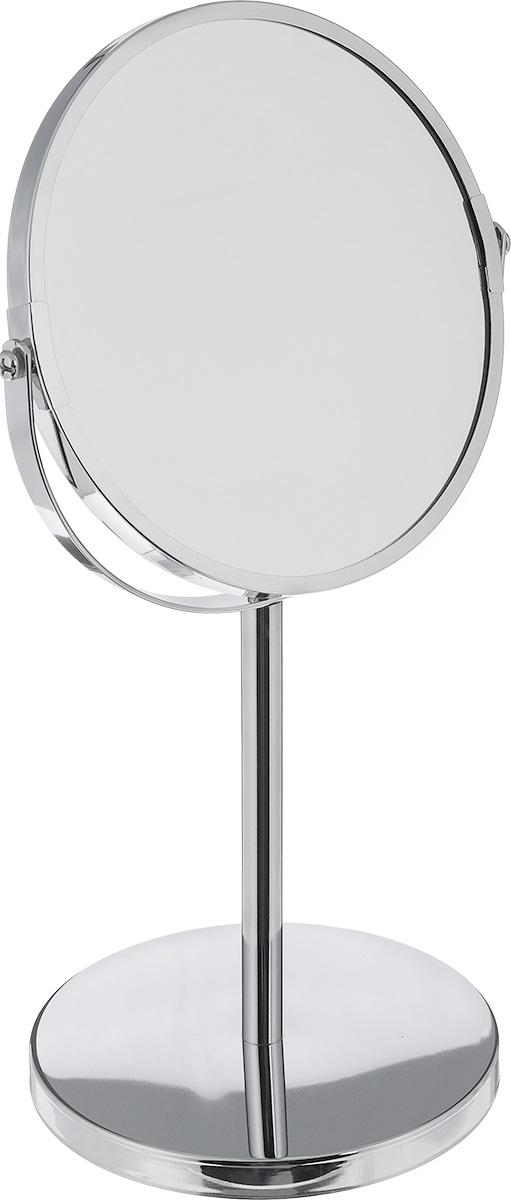 Зеркало косметическое Vanstore, настольное, двустороннее507-90Настольное косметическое зеркало Vanstore идеально подходит для нанесения макияжа и совершения различных косметических процедур. Оно имеет две зеркальные поверхности, одна из которых с увеличением. Изделие устанавливается на специальную подставку.