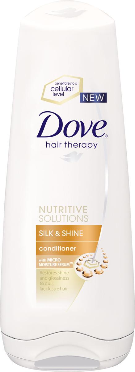 Dove Бальзам-ополаскиватель Hair Therapy Шелковое сияние 200мл.21136011DOVE Бальзам-ополаскиватель Hair Therapy Шелковое сияние 200мл