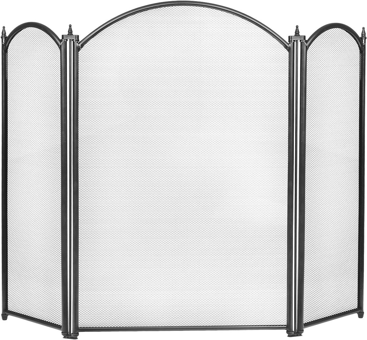 Экран каминный RealFlame, цвет: черный03021 BKКаминный экран RealFlame позволяет создать дополнительный эффект электрокамину, а так же создает дополнительный уют в доме и является незаменимым атрибутом, как современного очага так и классического. Изделие выполнено из высококачественного металла. Высота экрана: 68 см. Ширина экрана: 87 см.