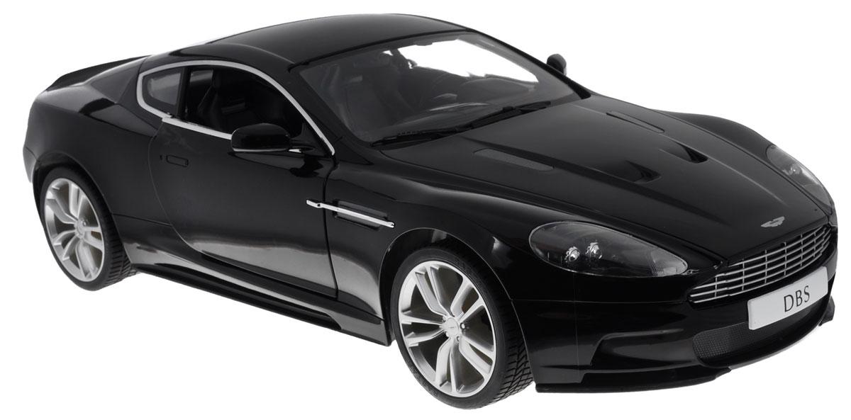 Rastar Радиоуправляемая модель Aston Martin DBS Coupe цвет черный масштаб 1:1052200_черныйРадиоуправляемая модель Rastar Aston Martin DBS Coupe станет отличным подарком любому мальчику! Все дети хотят иметь в наборе своих игрушек ослепительные, невероятные и крутые автомобили на радиоуправлении. Тем более, если это автомобиль известной марки с проработкой всех деталей, удивляющий приятным качеством и видом. Одной из таких моделей является автомобиль на радиоуправлении Rastar Aston Martin DBS Coupe. Это точная копия настоящего авто в масштабе 1:10. Двери машины открываются. Возможные движения: вперед, назад, вправо, влево, остановка. Имеются световые эффекты. Пульт управления работает на частоте 27 MHz. Машина работает на сменном аккумуляторе (входит в комплект). Для работы пульта управления необходима батарейка 9V (6F22) (не входит в комплект).