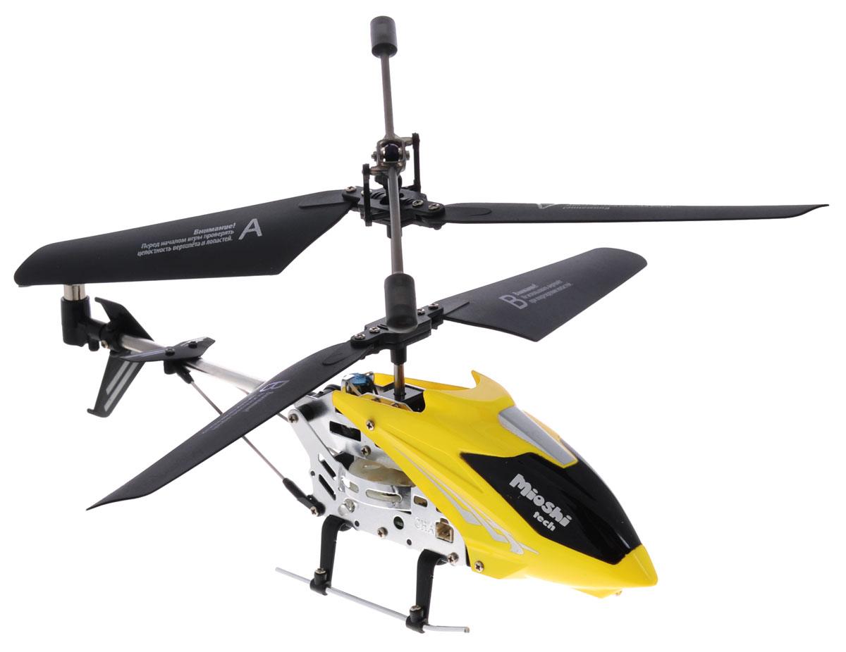 Mioshi Вертолет на инфракрасном управлении IR-107 цвет желтыйMTE1202-107ЖMioshi Вертолет на инфракрасном управлении Mioshi IR-107 непременно понравится как детям, так и взрослым. Вертолет оснащен встроенным гироскопом и 3,5-канальной системой управления. Благодаря этому модель стабильна в управлении. Движения вертолета плавные, без вращения на взлете. Наличие встроенного гироскопа делает полет сбалансированным и не позволяет сбиться с намеченного курса. Движения вертолета: вперед-назад, вверх-вниз, поворот налево-направо, зависание и вращение на 360 градусов. Такие вертолеты относятся к усовершенствованным радиоуправляемым игрушкам, пилотировать которые могут даже дети. За счет небольшого веса и легкой металлической конструкции вертолет не получает серьезных повреждений, которые возможны при первых запусках. Необходимо купить 6 батареек напряжением типа АА (не входят в комплект).