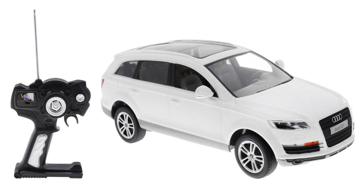 Rastar Радиоуправляемая модель Audi Q7 цвет белый масштаб 1:14