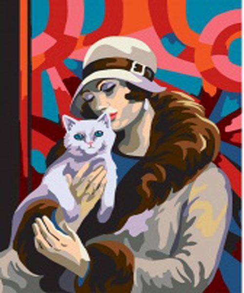 Канва с нанесенным рисунком для вышивания Collection DArt Дама с котом, 30 х 40 см10477Канва с рисунком Collection DArt Дама с котом, изготовленная из хлопка, поможет вам создать свой личный шедевр - красивую вышитую картину. Вышивка выполняется в технике несчетный крест. На полях рисунка указана цветовая палитра. Вышивание отвлечет вас от повседневных забот и превратится в увлекательное занятие! Работа, сделанная своими руками, создаст особый уют и атмосферу в доме и долгие годы будет радовать вас и ваших близких. Канва страмин с нанесенным рисунком (100% хлопок). Рекомендуемое количество цветов: 20. Размер готового рисунка: 30 х 40 см. Нитки в комплект не входят.